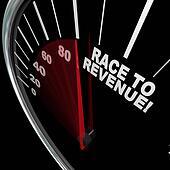 Race to Revenue Rising Speedometer Needle Profits