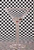 Empty martini glass