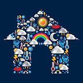Weather Icons set house