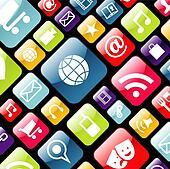 Mobile phone app icon background