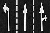 Street Road Arrows Direction on Asphalt Texture