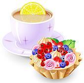 Tea and fruit basket