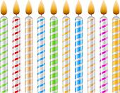 Birthday Candles Clip Art - Royalty Free - GoGraph