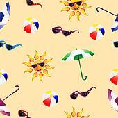 Pattern with umbrella