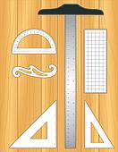 Drafting Tools, wood drafting board