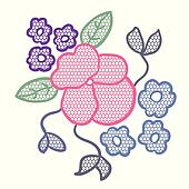 Lace flower applique