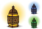 Islamic lamp for Ramadan / Eid