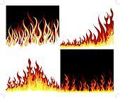 fire background set