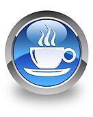 Coffee break glossy icon