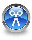 Scissors glossy icon
