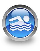 Swimming pool glossy icon