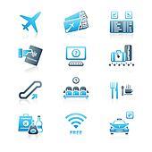 Airport icons | MARINE series