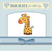 new baby boy announcement card