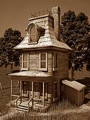 Cartoohisn House - sepia
