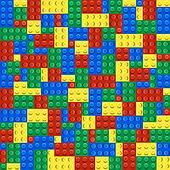 Background of plastic building blocks