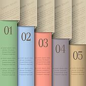 Design template in pastel colors