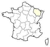 Map of France, Lorraine highlighted