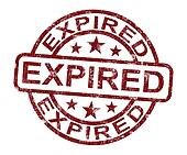 Expired Stamp Shows Product Validity Ended