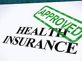 Health Insurance Approved Form Showing Successful Medical Application