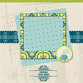 Scrapbook Design Elements - Vintage Card with Photo Frame - in vector