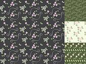 Beautiful seamless patterns with he