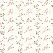 Spring seamless pattern with hearts and roses