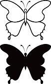 Butterfly, silhouette