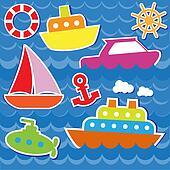 Marine transport stickers