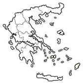 Map of Greece, South Aegean highlighted