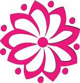 pink flower logo vector