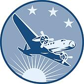 Vintage Propeller Airplane Retro