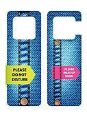 hotel do not disturb door hanger with special jeans design