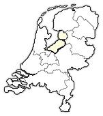 Map of Netherlands, Flevoland highlighted