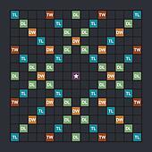 Word game board