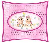 Twin Baby Girls Design