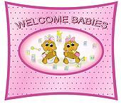 Twin Baby Girls Design