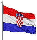 Waving flag of Croatia