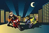 Motorcycle racers