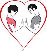Illustration of love, harmony and h