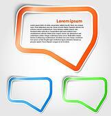 Speech bubbles as sticker