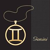 Gemini Gold Necklace