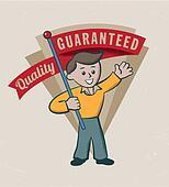 Vintage retro premium quality label