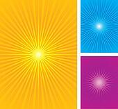 Starburst, sunburst vector illustra