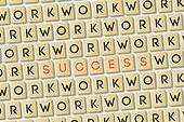 Scrabble: Work is Success
