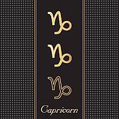 Capricorn Gold Horoscope Symbols