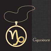 Capricorn Gold Necklace