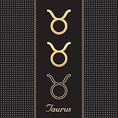 Taurus Gold Horoscope Symbols
