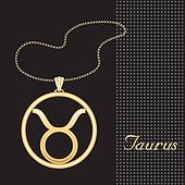 Taurus Gold Necklace
