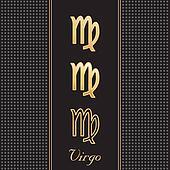 Virgo Gold Horoscope Symbols