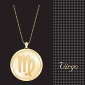 Virgo Gold Pendant Necklace